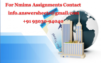 Nmims Solved Assignments for 2020 Oct