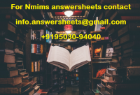 Nmims Best 2021 DEC Assignments - Madhur's father was a social worker and very actively working for a well-maintained area in his vicinity. He used to ensure that all the public amenities